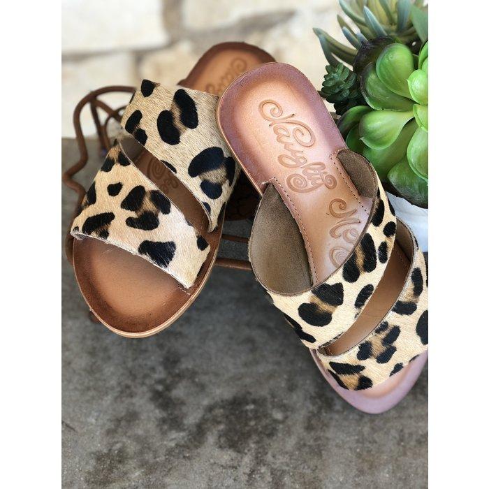 Leopard Spirited Leather Sandals