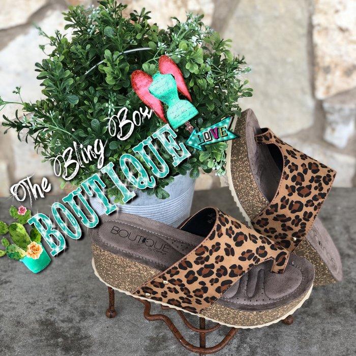 Leopard Print Benton Wedge Sandal