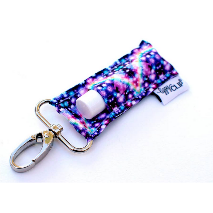 Purple Rainbow Galaxy Lippy Clip Lip Balm Holder
