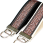 Leopard Print On Black Keychain Lippy Clippy Co.