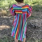 Serape Pom Pom Sleeve Dress