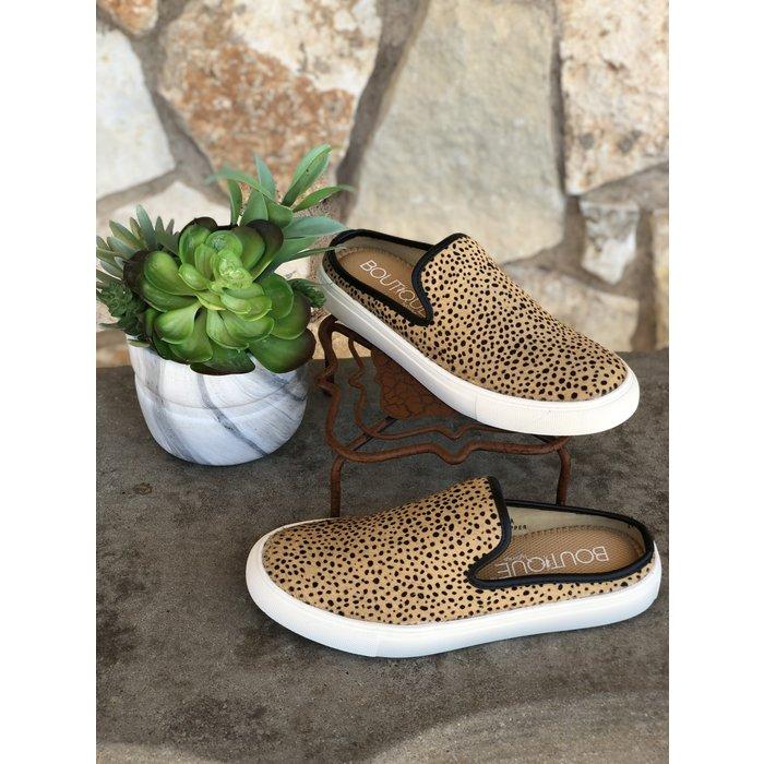 Abbott - Brown Speckled Leather Slide Tennis
