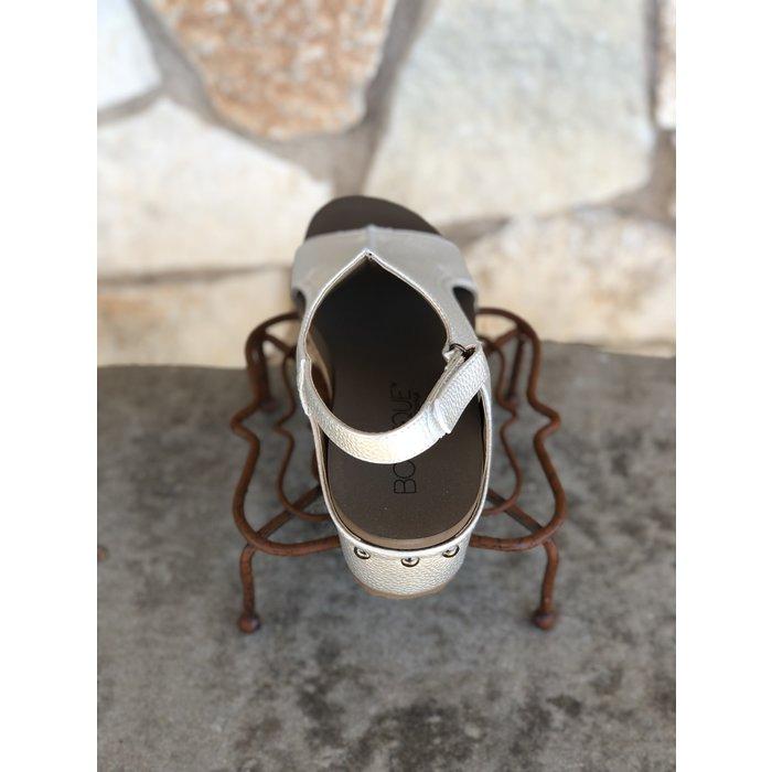 Silver Volta Wedge Sandal