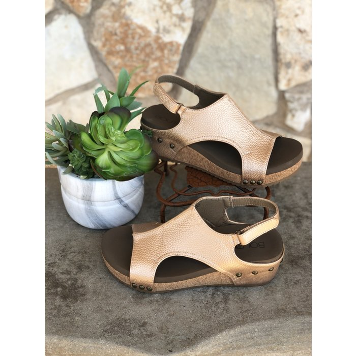 Gold Volta Wedge Sandal