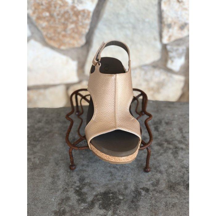 Gold Volta Wedge Sandal