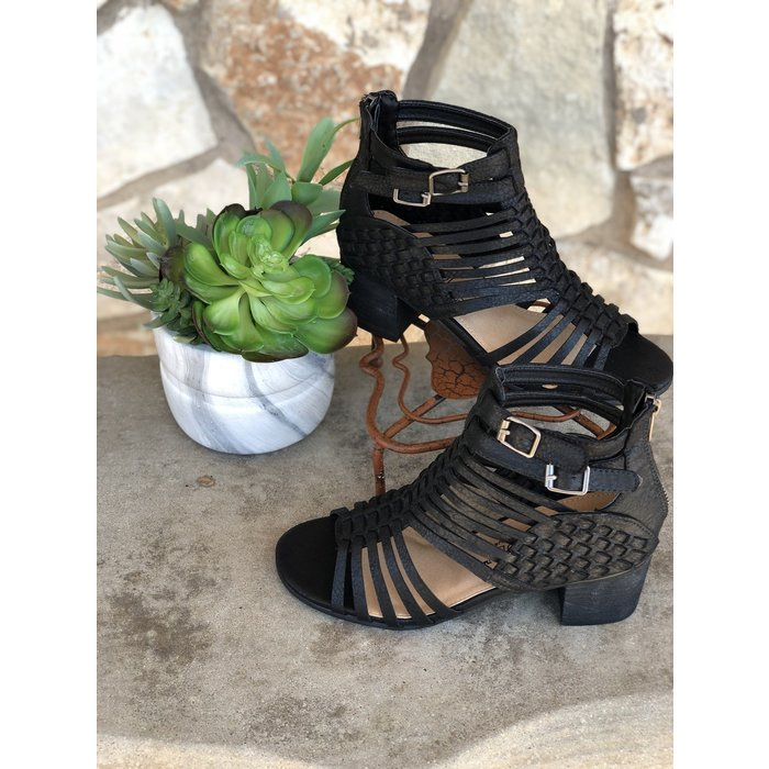 Black Chino Sandal Bootie