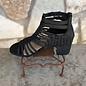 Black Chino Sandal Bootie