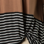 Burgundy Leopard Twist Front 3/4 Sleeve Top