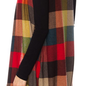 Fall Plaid Print Long Vest with Pockets
