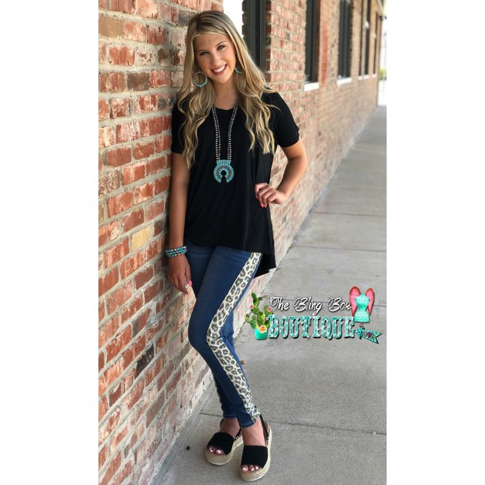 Judy Blue Leopard Stripe Denim Jeans
