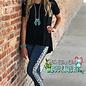 Judy Blue Leopard Stripe Denim Jeans