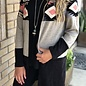 Aztec Mocha Color Block Cardigan