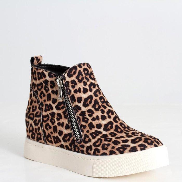 Taylor Oatmeal Cheetah Wedge Sneaker
