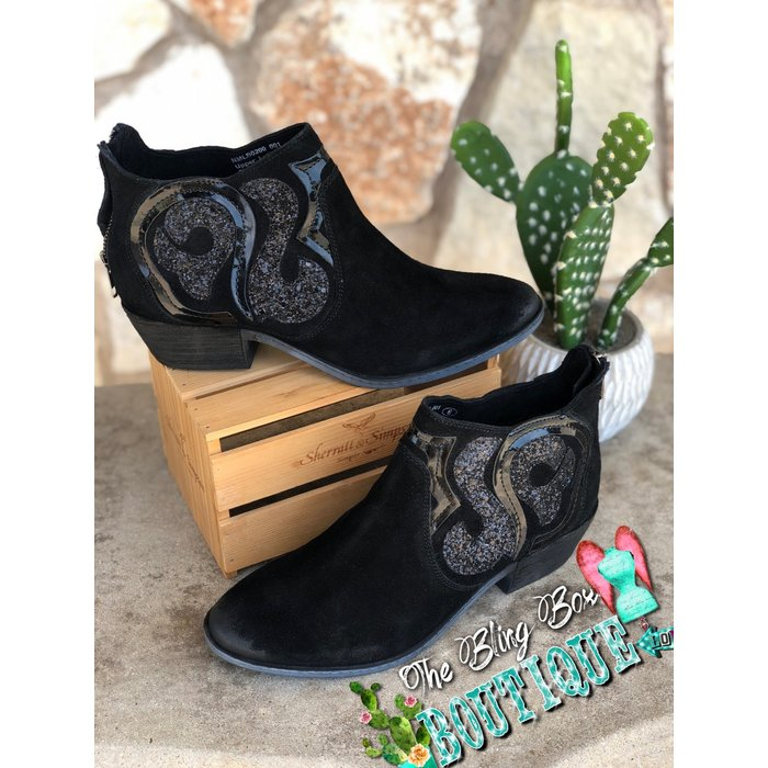 Black Naughty Monkey Eloi Glitter Swirl Booties