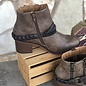 Chryse Chocolate Buckle Bootie
