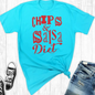 Chips & Salsa Diet on Turquoise T-Shirt