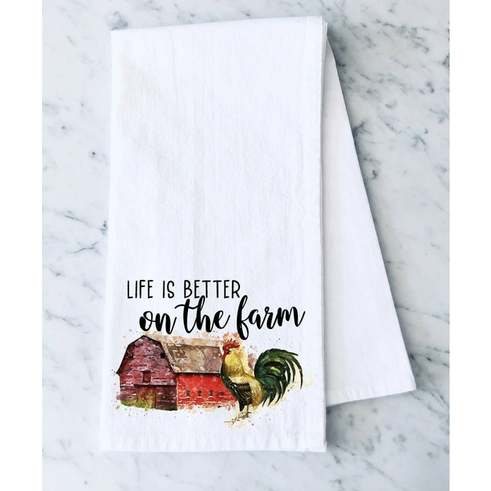 Life Is Better On The Farm Towel