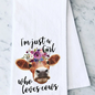I'm Just A Girl Who Loves Cows Towel