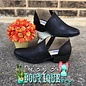Black Jasper Open Side Bootie