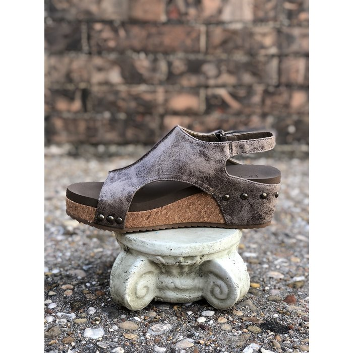Volta Distressed Brown Sandal