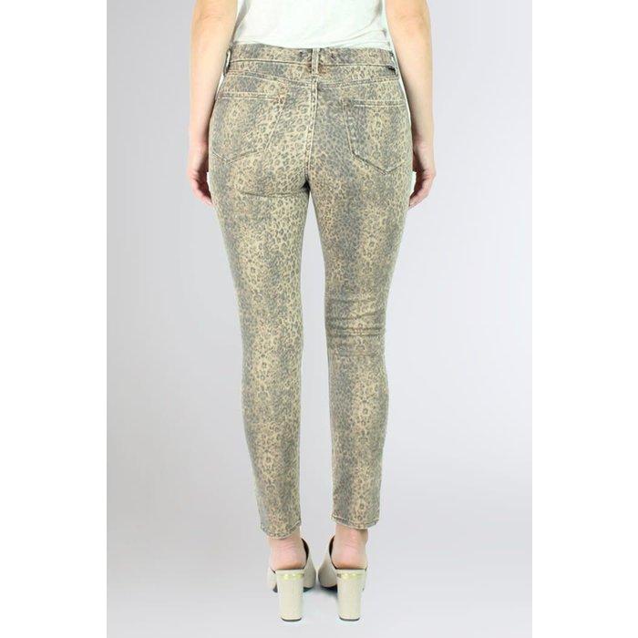 Gisele Ankle Skinnys Snow Leopard Jeans