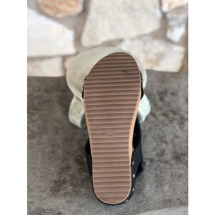 Black Volta Wedge Sandal