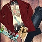 Burgundy Super Cozy Cardigan with Pockets