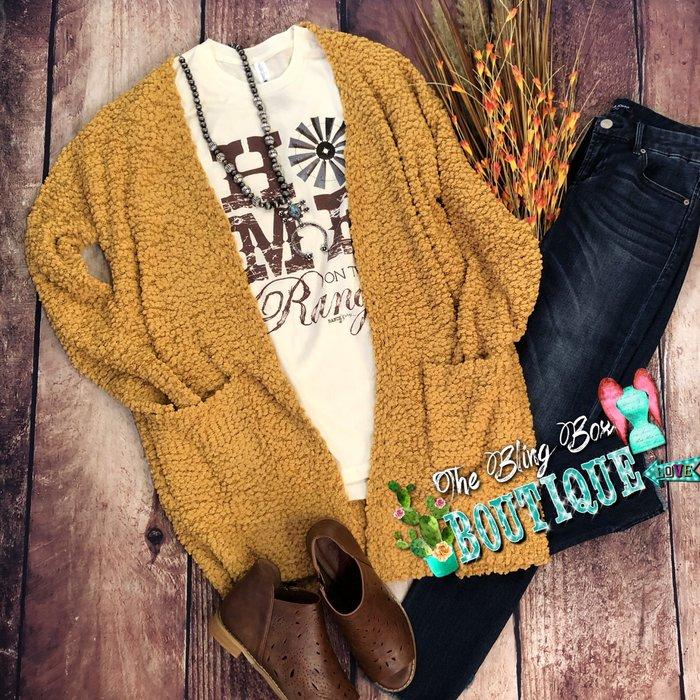 Mustard Super Cozy Cardigan with Pockets