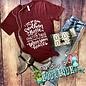 V-Neck Southern Ghetto Thug Maroon T-Shirt