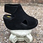 Black Welch Peep Toe Wedge w/Velcro Closure