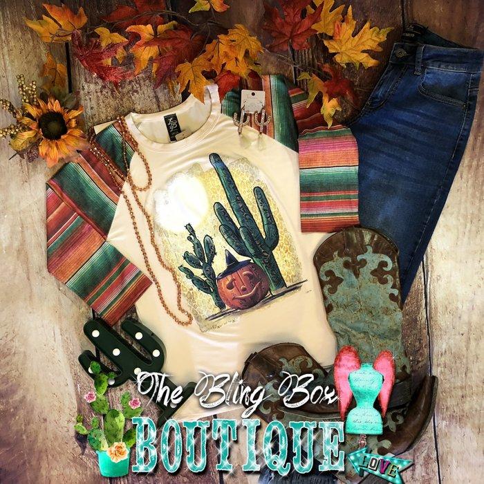 Serape Sleeve Cactus Jack Raglan Top