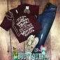 Crew Neck Southern Ghetto Thug Maroon T-Shirt