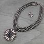 Western Black Stone Navajo Pearl Necklace Set