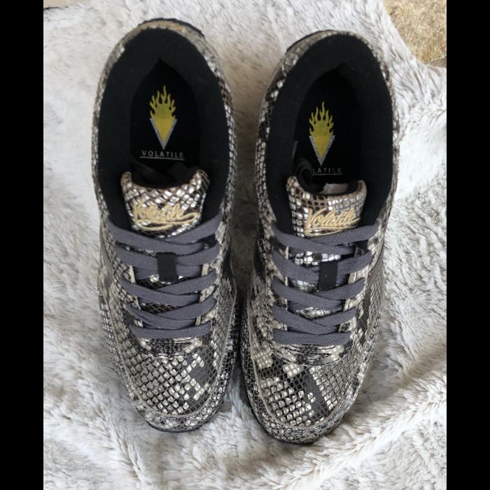 Fitness Taupe Multi Snake Skin Tennis Shoe