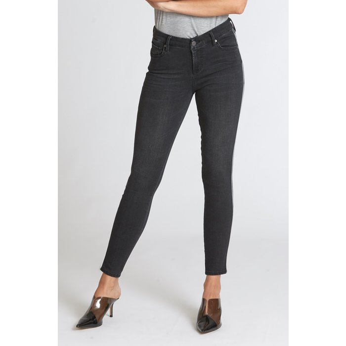 Dalby Joyrich Comfort Skinny Jeans with Patent Leather Striping on Side