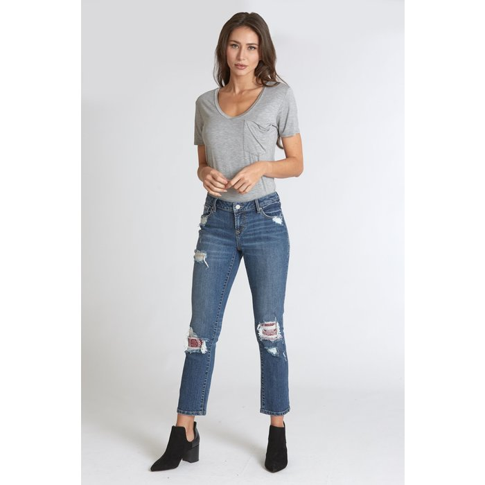 Liam Mid Rise Straight Ankle Ace Jean