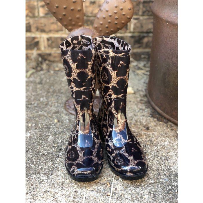 Riverwalk Leopard Print Rain Boots