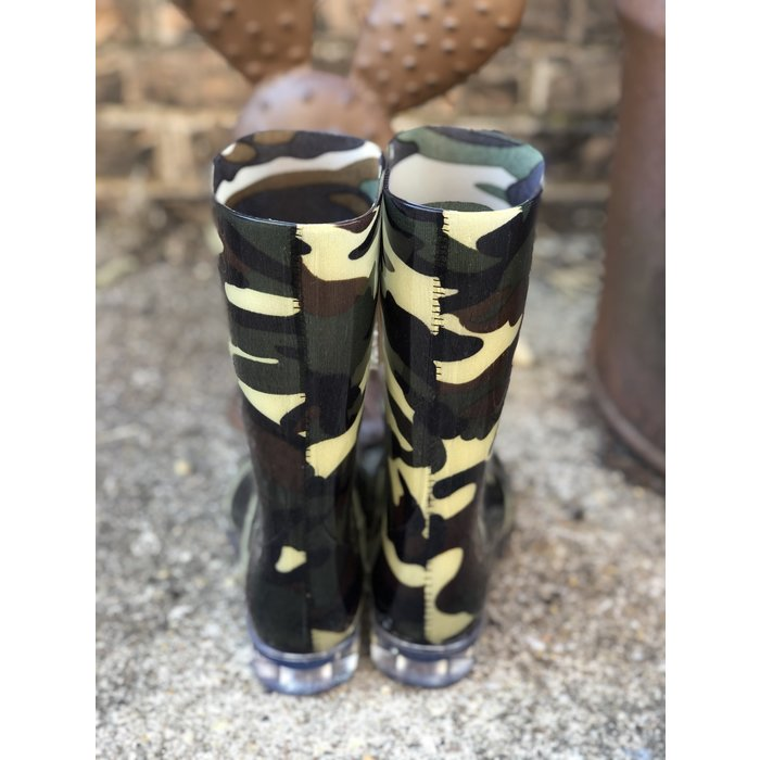 Riverwalk Camo Print Rain Boots