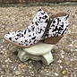 Gracemont Black & White Cow hide Leather Booties