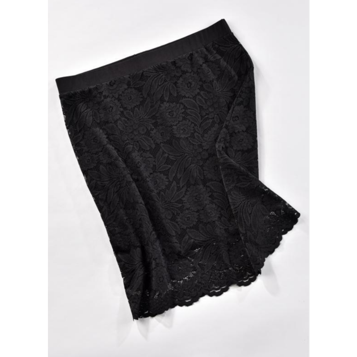 Charlie Paige Reversible Black Lace Skirt