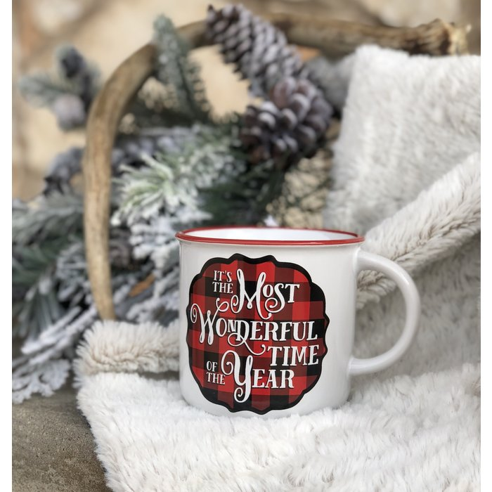 It's The Most Wonderful Time of The Year Buffalo Plaid Mug