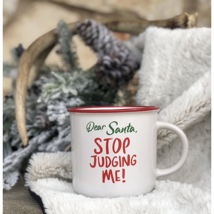 Dear Santa Stop Judging Me Mug