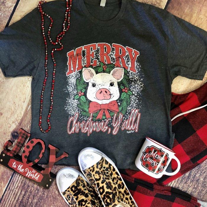 Merry Christmas Ya'll Pig T-Shirt