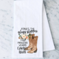 Forget the Glass Slipper Flour Sack Towel