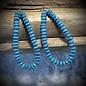 Turquoise Beaded Open Teardrop Earrings