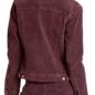 Alyssa Corduroy Bomber Jacket with Fur Collar in Mulberry