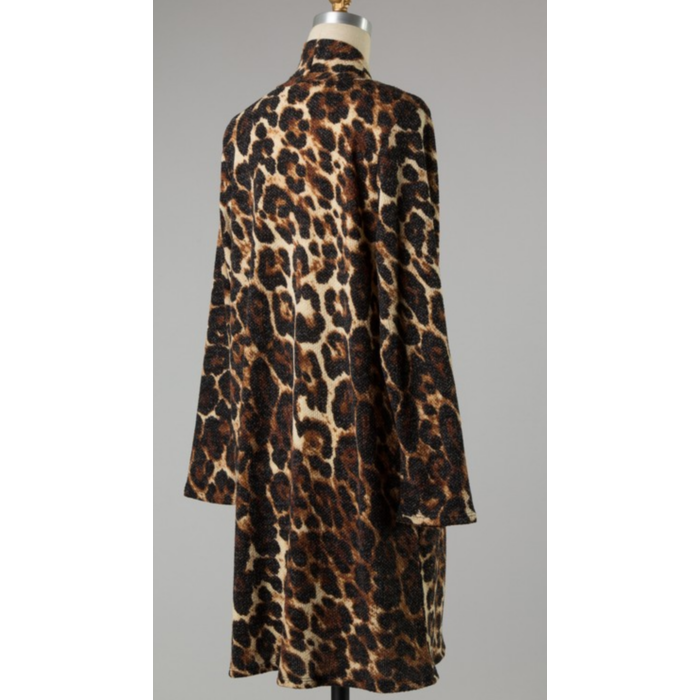 Long Sleeve Super Soft Leopard Cardigan