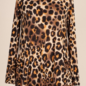 Long Sleeve Mustard Leopard Dress with Pockets