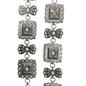 Turquoise Ribbon Square Concho Chain Belt