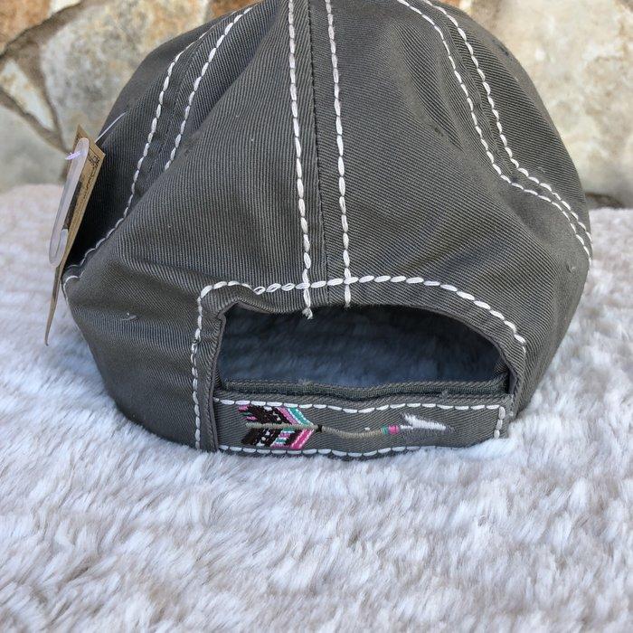A Little Country A Little Hood Grey Vintage Ball Cap